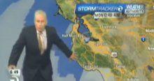 Canlı yayında deprem paniği