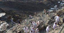 Hacı adaylarının Hira Dağı'ndaki zorlu tırmanışı