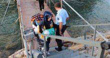Göle düşen 2,5 aylık bebek son anda kurtarıldı