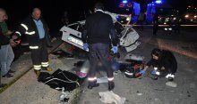 Ölüm virajında korkunç kaza! 4 ölü, 4 yaralı