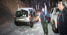 Erzurum'da karlı günleri başladı!
