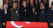 Şehit astsubay Erdem Ertan'ı devletin zirvesi uğurladı