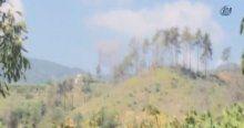 Türkmen dağlarına düşen füze kamerada