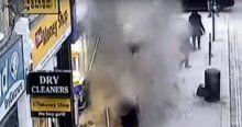 Bina bir anda çöktü, İnsanlar son anda kurtuldu