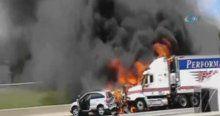 Zincirleme kaza ve yangın