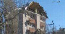 Fırtına çatıyı böyle uçurdu