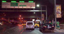Ticari taksi park halindeki araca çarptı, 1 yaralı
