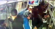 Metroda bomba şakası kamerada!