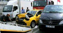 E-5 Karayolu'nda zincirleme kaza, 4 yaralı