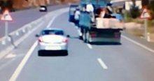Freni patlayan kamyondan atlayarak kurtuldu