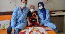Lösemi hastası minik Eren iyileşince Kabe'ye gitmek istiyor