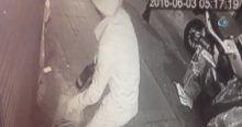 Kadıköy'de emlak dükkanına molotoflu saldırı kamerada