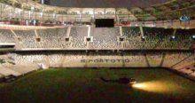 Darbecilere ait helikopter Vodafone Arena'ya böyle indi