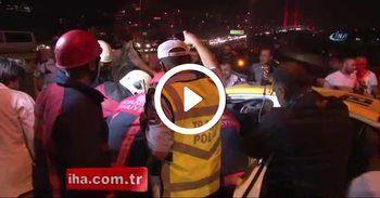 15 Temmuz Şehitler Köprüsü girişinde trafik kazası, 1 yaralı