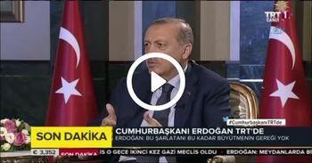 Erdoğan: Beslediler, büyüttüler, ülkemizin üzerine saldılar