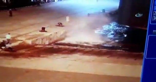 Forklift teknikerin üzerine düştü