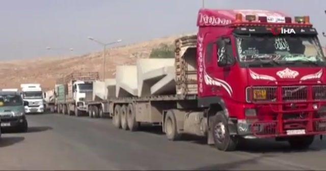 İdlib'e beton blok sevkıyatı devam ediyor