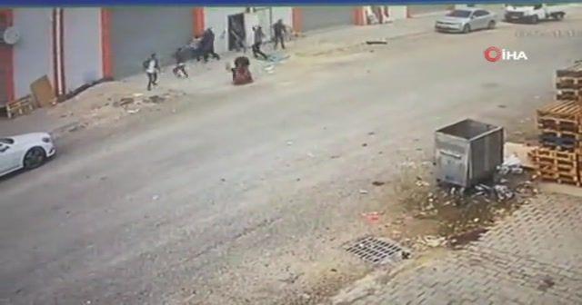 1 kişinin öldüğü, 4 kişinin yaralandığı kavga kamerada