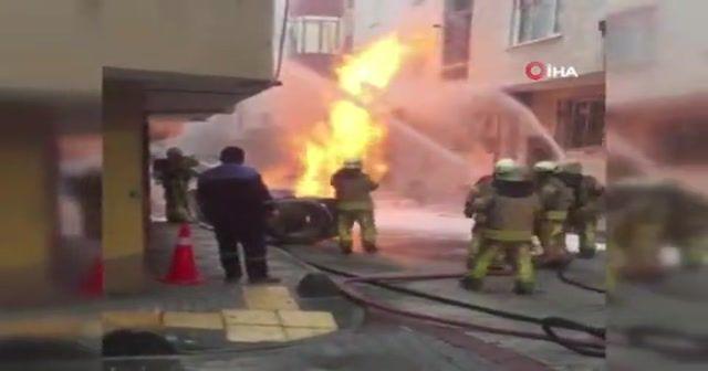 İstanbul'da doğalgaz borusu patladı
