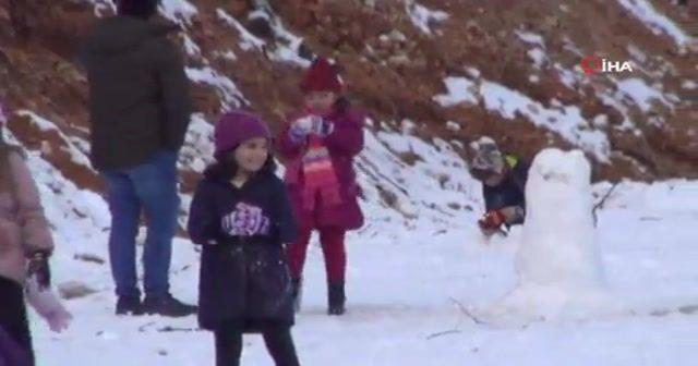 Bodrum'a yıllar sonra kar yağdı