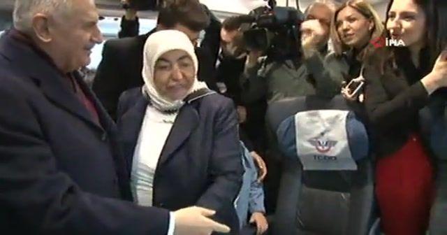 Görevi devretti, hızlı trenle İstanbul'a gitti
