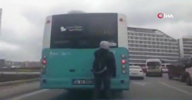Patenli gencin tehlikeli yolculuğu kamerada