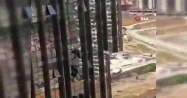 Kadıköy'de rezidansın 16. katında korku dolu anlar