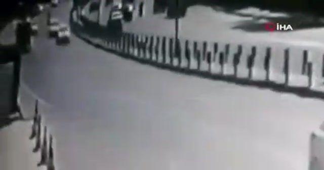 Sarıyer'de ilginç kaza kamerada