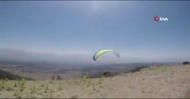 1 kişinin öldüğü yamaç paraşütü kazası amatör kamerada
