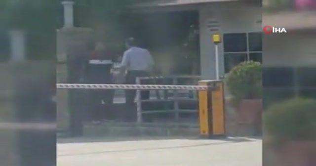 İşçinin, silahla daire başkanlığını basma anı kamerada