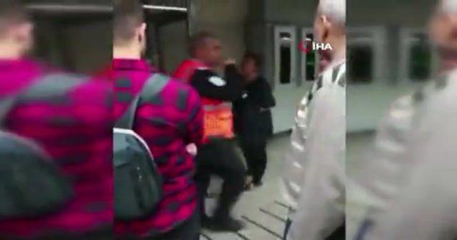 Başörtülü kızlara saldıran kadının yeni görüntüleri ortaya çıktı