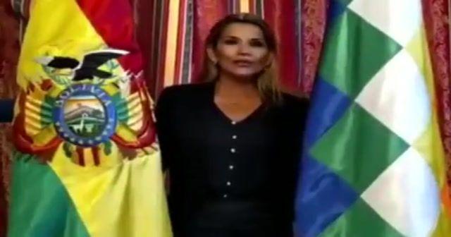 Bolivya'nın geçici devlet başkanı oldu