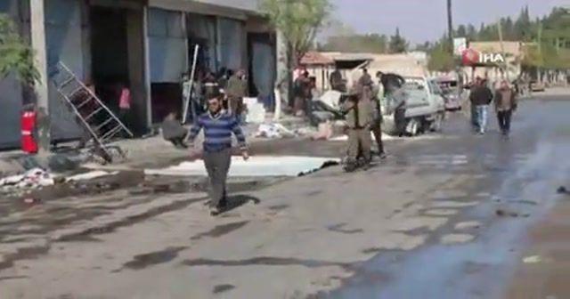 Tel Abyad'da siviller dükkan ve evlerini tamir etti