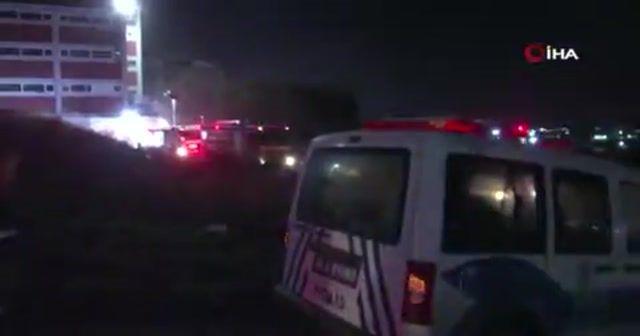 Hadımköy'de korkutan fabrika yangını
