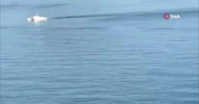 Kayıp 3 kişiyi arama çalışmaları drone ile görüntülendi