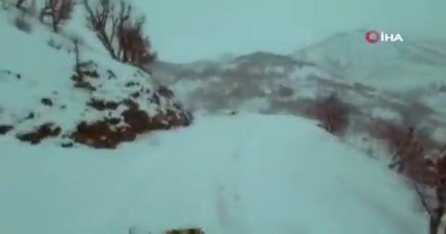 Siirt'te kardan kapanan grup köy yolları ulaşıma açıldı