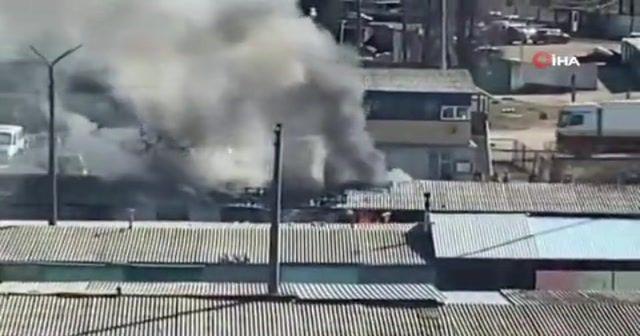 Kiev'de garaj kooperatifinde yangın