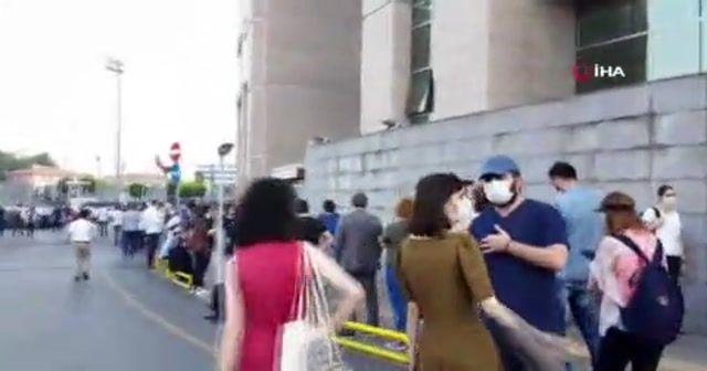 İstanbul Adalet Sarayı önünde uzun kuyruklar oluştu