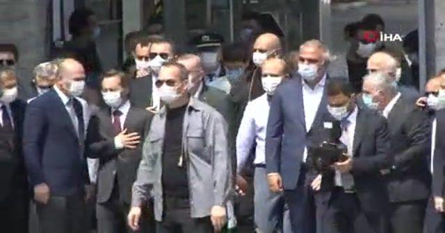 Cumhurbaşkanı Erdoğan Ayasofya Camii'nde incelemelerde bulundu
