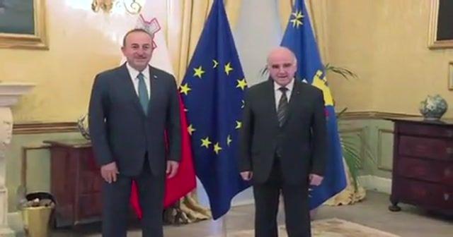 Bakan Çavuşoğlu, Malta Devlet Başkanı Vella ile görüştü