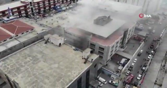 Beylikdüzü sanayi sitesinde yangın