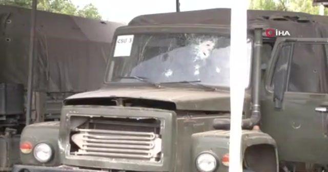 Cepheden kaçan Ermeni ordusuna ait askeri araçlar ilk kez görüntülendi