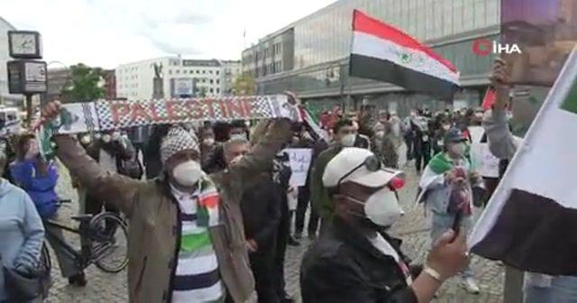 Berlin'de Filistin'e destek yürüyüşü
